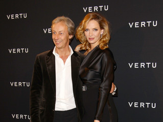 Uma Thurman Perry Oosting Vertu Global Launch Of The 'Constellation' In Milan - Arrivals