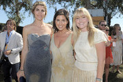 (L-R) Delfina Blaquier, Host Vanessa Kay and singer Talia Londoner attend Veuve Clicquot Polo Classic Los Angeles at Will Rogers State Historic Park on October 9, 2011 in Los Angeles, California.