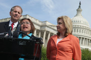 Human trafficking survivor Shandra Woworuntu (C) speaks during a news conference with U.S. House of Representatives Victims' Rights Caucus Chairman Rep. Ted Poe (R-TX) (L) and Rep. Carolyn Maloney (D-NY) outside the U.S. Capitol May 20, 2014 in Washington, DC. A native of Indonesia, Woworuntu graduated from college and worked at the Korea Exchange Bank before becoming a victim of human trafficking and sold into sexual slavery in New York City. The bipartisan lawmakers urged their colleagues to vote for The Justice for Victims of Trafficking Act and The Human Trafficking Fraud Enforcement Act of 2014.