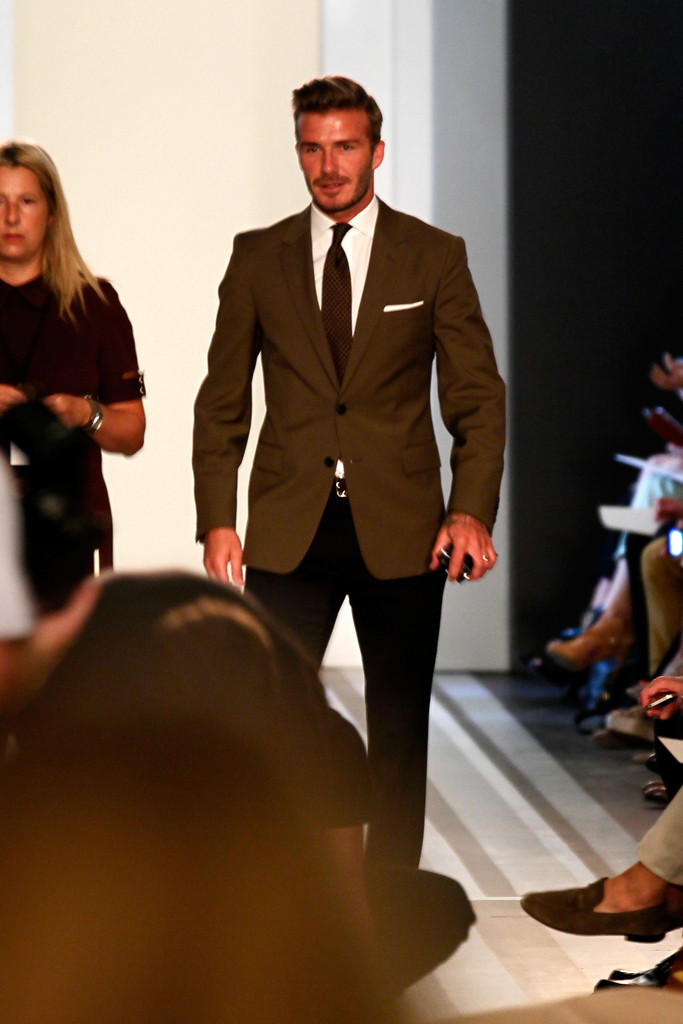 David Beckham Photos Photos Victoria Beckham Presentation Spring 2013 Mercedes Benz