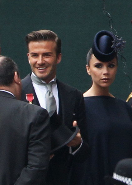Victoria Beckham David Beckham and Victoria Beckham arrive to attend the Royal Wedding of Prince William to Catherine Middleton at Westminster Abbey on April 29, 2011 in London, England. The marriage of the second in line to the British throne is to be led by the Archbishop of Canterbury and will be attended by 1900 guests, including foreign Royal family members and heads of state. Thousands of well-wishers from around the world have also flocked to London to witness the spectacle and pageantry of the Royal Wedding.