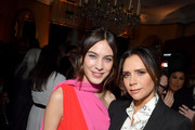 (L-R) Alexa Chung and Victoria Beckham attend the Victoria Beckham x YouTube Fashion & Beauty After Party at London Fashion Week hosted by Derek Blasberg and David Beckham, at Marks Club on February 17, 2019 in London, England.