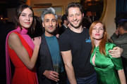 (L-R) Alexa Chung, Tan France, Derek Blasberg and Josephine de La Baume attend the Victoria Beckham x YouTube Fashion & Beauty After Party at London Fashion Week hosted by Derek Blasberg and David Beckham, at Marks Club on February 17, 2019 in London, England.