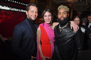 (L-R) Derek Blasberg, Alexa Chung and Odell Beckham Jr attend the Victoria Beckham x YouTube Fashion & Beauty After Party at London Fashion Week hosted by Derek Blasberg and David Beckham, at Marks Club on February 17, 2019 in London, England.