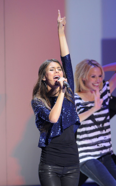 Victoria Justice Victoria Justice performs during the 2011 Nickelodeon Upfront Presentation at Jazz at Lincoln Center on March 10, 2011 in New York City.