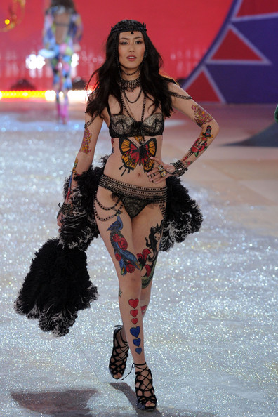 Model Liu Wen walks the runway during the Victoria's Secret 2012 Fashion Show on November 7, 2012 in New York City.
