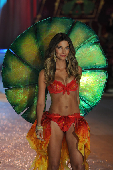 Victoria's Secret Angel Lily Aldridge walks the runway during the Victoria's Secret 2012 Fashion Show on November 7, 2012 in New York City.