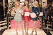 Victoria's Secret Angels Josephine Skriver, Lais Ribeiro, and Romee Strijd celebrate the Victoria's Secret Fashion Show at the new 5th avenue store on December 2, 2016 in New York City.