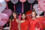 (L-R)  Victoria's Secret Angels Taylor Hill, Sara Sampaio, and Josephine Skriver share their hottest Valentine's Day gift picks at Victoria's Secret at 640 5th Avenue on February 7, 2017 in New York City.