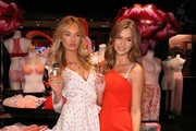 Victoria's Secret Angels Romee Strijd and Josephine Skriver share the new Dream Angels and Very Sexy collections at Victoria's Secret on February 6, 2018 in Santa Monica, California.