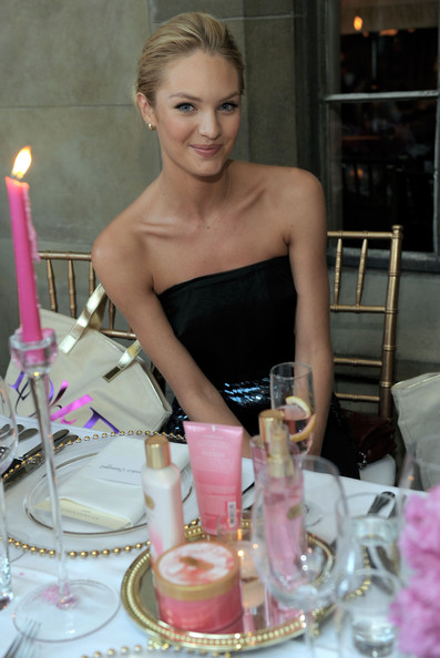 Victoria's Secret Bombshell, Candice Swanepoel hosts a dinner party in honor of the unveiling of the new VS Fantasies body care and fragrance collection at the Chateau Marmont on July 19, 2011 in Los Angeles, California.