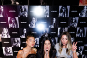 Angel Sara Sampaio poses for photos with guests as Victoria's Secret debuts new fall collection on August 08, 2019 in Chicago, Illinois.