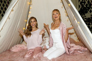 Victoria's Secret Angels Josephine Skriver (L) and Romee Strijd attend Victoria's Secret Ultimate Girls Night In with Angels Josephine Skriver and Romee Strijd at Peninsula Hotel on February 6, 2018 in Beverly Hills, California.