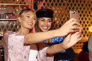 (L-R) Romee Strijd and Annabelle Fleur attend Victoria's Secret Ultimate Girls Night In with Angels Josephine Skriver and Romee Strijd at Peninsula Hotel on February 6, 2018 in Beverly Hills, California.