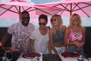 Dj Irie, Diego Boneta, Devon Windsor and Rachel Hilbert attend Victoria's Secret PINK Nation Spring Break Beach Party in Cancun, Mexico on March 15, 2016 in Cancun, Mexico.