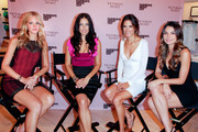 Erin Heatherton, Adriana Lima, Alessandra Ambrosio and Lily Aldridge pose during the Victoria's Secret Fashion's Night Out event at Victoria's Secret, SoHo on September 8, 2011 in New York City.