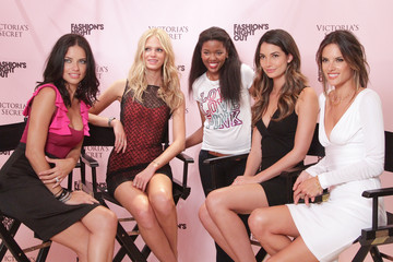 Adriana Lima Erin Heatherton Victoria's Secret Soho Fashion's Night Out