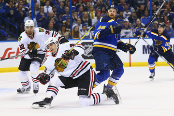 Viktor Svedberg Chicago Blackhawks v St Louis Blues - Game One