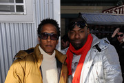 (L-R) Andre Royo and Hassan Johnson attend Day 2 of Village At The Lift 2013 on January 19, 2013 in Park City, Utah.