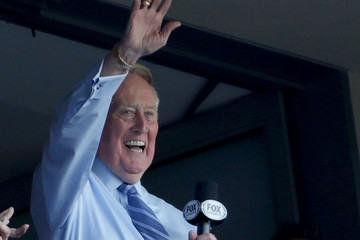 Vin Scully NLCS - Chicago Cubs v Los Angeles Dodgers - Game Five