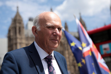 Vince Cable Stop Brexit Supporters Rally Ahead Of Parliament Voting On Lords' Amendments