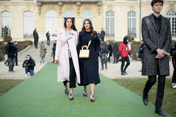 Viola Arrivabene Christian Dior : Outside Arrivals - Paris Fashion Week - Haute Couture Spring Summer 2017