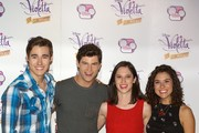 (L-R) Jorge Blanco, Diego Dominguez, Ludovica Comello and Alba Rico attend the 'Violetta' photocall at the Emperador Hotel on June 24, 2013 in Madrid, Spain.