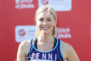 Jenni Falconer poses for a photo ahead of participating in The Virgin London Marathon on April 22, 2018 in London, England.