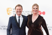 (L-R) Sean Bean and Ashley Moore attend the Virgin TV British Academy Television Awards at The Royal Festival Hall on May 13, 2018 in London, England.