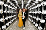 Katherine Ryan and Bobby Kootstra attend a drinks reception on board Virgin Voyages' new cruise ship 'Scarlet Lady' on February 25, 2020 in Liverpool, England.