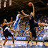 Mike Tobey Photos - Matt Jones #13 of the Duke Blue Devils battles for a rebound against Mike Tobey #10 of the Virginia Cavaliers during a game at Cameron Indoor Stadium on January 13, 2014 in Durham, North Carolina. Duke won 69-65. - Virginia v Duke