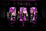 Founder, Chairman and Chief Executive Officer of SBE, Sam Nazarian, Culinary Director at SLS Las Vegas, Chef Jose Andres, Creative Director at SLS Las Vegas, Philippe Starck, Founder of Kravitz Design, Lenny Kravitz, CEO of Fred Segul, Paul Blum, President of Dakota Developement, Joe Faust and President, SBE Hotel Division, Arash Azarbarzin onstage during Visionary Partners Sam Nazarian, Philippe Starck, Jose Andres and Lenny Kravitz Unveil SLS Las Vegas on August 22, 2014 in Las Vegas, Nevada.