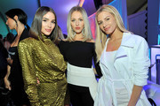(L-R) Olivia Culpo, Shea Marie, and Morgan Stewart attend Vital Proteins Collagen Water Launch Party at Millennium Park on June 19, 2019 in Chicago, Illinois.