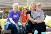 Actress and DIY expert Monica Potter poses with Cori Quick and her two daughters Daphne and Audrey who received  a newly-rehabbed outdoor and patio space from Boys and Girls Club of Greater Ventura on April 6, 2016 in Ventura, California.  (Photo by Michael Kovac/Getty Images for Viva (Kimberly-Clark))