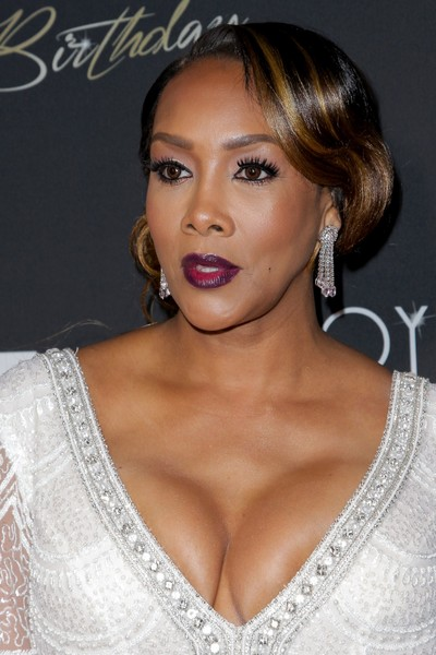 Floyd Mayweather's 40th Birthday Celebration - Arrivals [photographs,hair,fashion model,beauty,eyebrow,human hair color,hairstyle,chin,model,shoulder,long hair,arrivals,vivica a fox,floyd mayweather,tv personality,tibrina hobson,boxer,us,birthday celebration,birthday celebration]