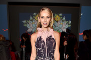 Actor Olivia Jordan attends the Vivienne Tam front row during New York Fashion Week: The Shows at Gallery I at Spring Studios on February 13, 2018 in New York City.