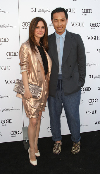 Actress Rachel Bilson (L) and designer Phillip Lim attend Vogue's one year anniversary party at the Phillip Lim Los Angeles store on July 15, 2009 in West Hollywood, California.