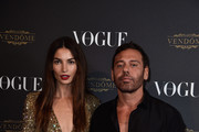 Lily Aldridge and Mert Alas attend the Vogue 95th Anniversary Party on October 3, 2015 in Paris, France.