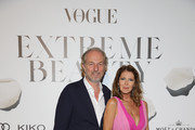 Arturo Artom and Anna Repini attend the Vogue Italia Cocktail Party during the Milan Fashion Week Spring/Summer 2020 on September 20, 2019 in Milan, Italy.