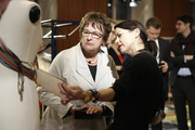 Brigitte Zyprie (L) and guests attend the Vogue Salon during 'Der Berliner Salon' AW 18/19 at Kronprinzenpalais on January 16, 2018 in Berlin, Germany.