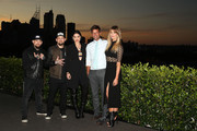 (L-R) Benji Madden, Joel Madden, Jessie J, Ricky Martin and Delta Goodrem pose during the Voice Live Finals Show Launch on July 29, 2015 in Sydney, Australia.