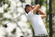 Chang-won Han of Korea in action during first round of the Volvo China Open at Luxehills Country Club on April 21, 2011 in Chengdu, China.