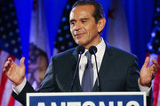 Former Los Angeles Mayor Antonio Villaraigosa speaks at an election night party during his run for governor on June 5, 2018 in Los Angeles, California. California voters are casting ballots in important primaries across the state.