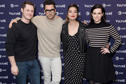 Noah Reid, Daniel Levy, Annie Murphy, and Emily Hampshire attend the Vulture Festival Los Angeles 2018 at The Hollywood Roosevelt Hotel on November 17, 2018 in Los Angeles, California.