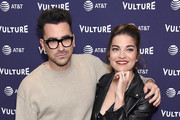 Daniel Levy and Annie Murphy attend the Vulture Festival Los Angeles 2018 at The Hollywood Roosevelt Hotel on November 17, 2018 in Los Angeles, California.