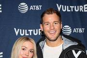 Cassie Randolph (L) and Colton Underwood (R) attend the Vulture Festival Los Angeles 2019 - Day 1 at Hollywood Roosevelt Hotel on November 09, 2019 in Hollywood, California.