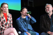 (L-R) Gillian Jacobs, Ken Jeong and Chris McKenna onstage at Vulture Festival Presented By AT&T at The Roosevelt Hotel on November 10, 2019 in Hollywood, California.