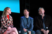 (L-R) Gillian Jacobs, Ken Jeong and Chris McKenna speak onstage at Vulture Festival Presented By AT&T at The Roosevelt Hotel on November 10, 2019 in Hollywood, California.