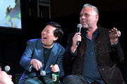 Ken Jeong (L) and Chris McKenna speak onstage at Vulture Festival Presented By AT&T at The Roosevelt Hotel on November 10, 2019 in Hollywood, California.
