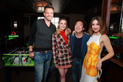 Joel McHale, Gillian Jacobs, Ken Jeong and Alison Brie in the Heineken Green Room at Vulture Festival Presented By AT&T at The Roosevelt Hotel on November 10, 2019 in Hollywood, California.